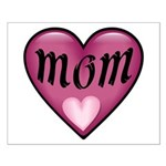 Pink Heart Mom Mother's Love Small Poster