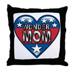 Heart Wonder Mom Mother's Throw Pillow