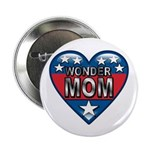 "Heart Wonder Mom Mother's 2.25"" Button (100 pack)"