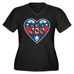 Heart Wonder Mom Mother's Women's Plus Size V-Neck