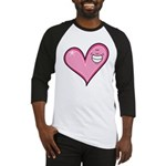 Pink Heart Cartoon Smile Smiley Baseball Jersey
