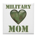 Military Mom Camouflage Camo Heart Tile Coaster
