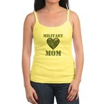 Military Mom Camouflage Camo Heart Jr. Spaghetti T