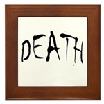 Death Halloween Framed Tile