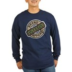 Mom Name Brand Apparel Logo Long Sleeve Dark T-Shi