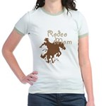 Rodeo Mom Wester Cowboy Cowgirl Jr. Ringer T-Shirt