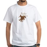 Rodeo Mom Wester Cowboy Cowgirl White T-Shirt