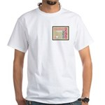 Mother Plaque with Hearts Mother's White T-Shirt