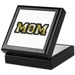 Golden Mom Name Gold Letters Keepsake Box