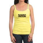 Golden Mom Name Gold Letters Jr. Spaghetti Tank