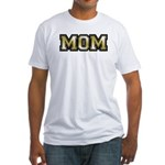 Golden Mom Name Gold Letters Fitted T-Shirt