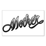 Mother Tattoo Art Text Rectangle Sticker