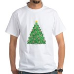 Celtic Christmas Tree White T-Shirt