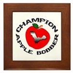 Apple Bobber Framed Tile
