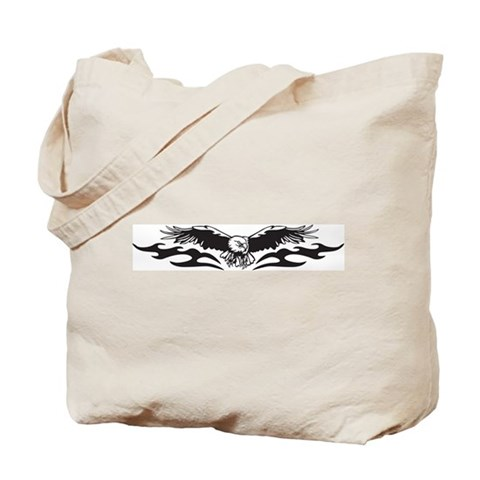 CafePress > Bags > Tribal Eagle Tattoo Tote Bag. Tribal Eagle Tattoo Tote Bag