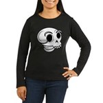 Funny Skull Women's Long Sleeve Dark T-Shirt