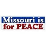 Missouri is for Peace Bumper Sticker