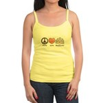Peace Love Beethoven Yellow Jr. Spaghetti Tank