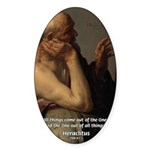 Ancient Greek Philosophy: Heraclitus Sticker (Oval