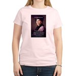 Jean Jacques Rousseau: Education Women's Pink T-Sh
