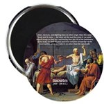 "Death of Socrates 2.25"" Magnet (100 pack)"