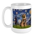 Starry Night / Border Terrier Large Mug