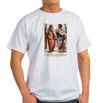 Plato Aristotle Philosophy Ash Grey T-Shirt