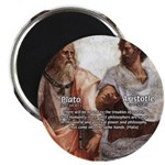"Plato Aristotle Philosophy 2.25"" Magnet (100 pack)"