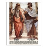 Plato Aristotle Philosophy Small Poster