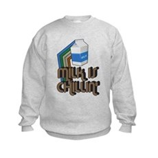 Milk is Chillin' Kids Sweatshirt
