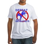 Defeat Defeatist Democrats Fitted T-Shirt