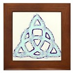 Ice Triquetra Framed Tile