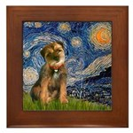Starry Night / Border Terrier Framed Tile