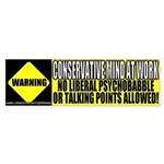 No Liberal Psychobabble Bumper Sticker