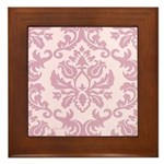 Lilac Damask Framed Tile