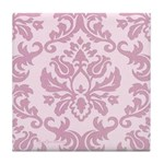 Lilac Damask Tile Coaster