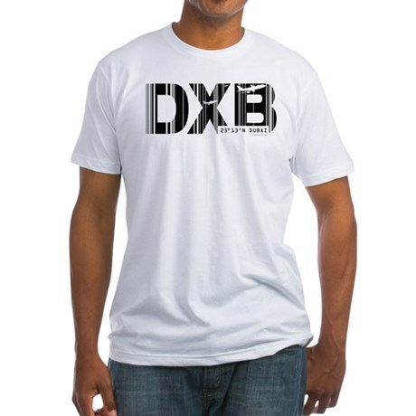 Dubai Airport Code DXB Fitted T-Shirt
