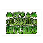It's a Celebration Bitches Shamrock Postcards (Pac