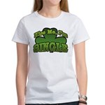 Kiss Me I'm Single Shamrock Women's T-Shirt