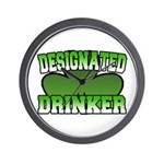 Designated Drinker Wall Clock