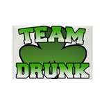 Team Drunk Rectangle Magnet