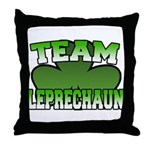 Team Leprechaun Throw Pillow