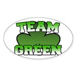Team Green Oval Sticker
