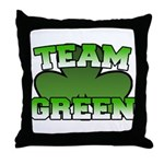 Team Green Throw Pillow