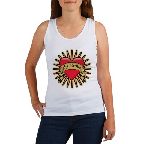 CafePress > Tank Tops & Tanks > Big Brother Tattoo Heart Women's Tank Top.