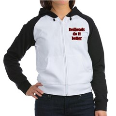 """Redheads do it better!"" Black Raglan Hoodie"