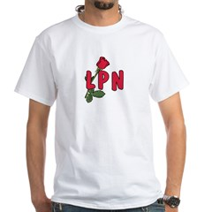 LPN Rose White T-Shirt