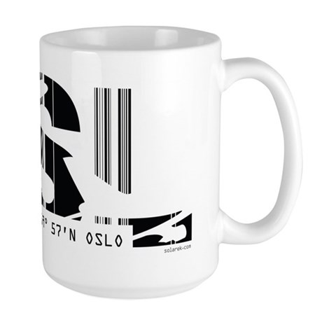 Oslo Norway OSL Air Wear Large Mug