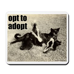 Opt To Adopt Cat Mousepad