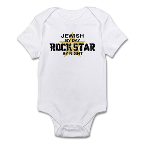 Jewish Rock Star by Night Infant Bodysuit